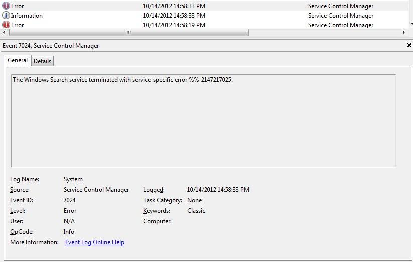 Windows Search will not start on lenovo laptops error